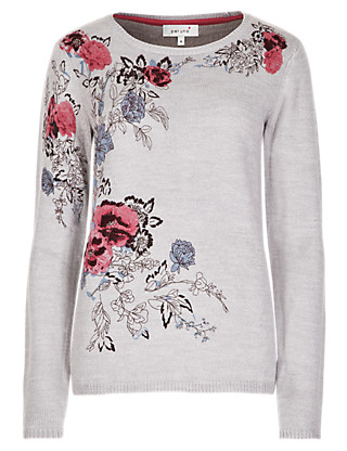 Placement Rose Print Jumper Clothing