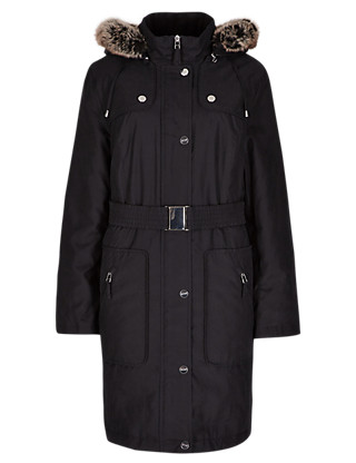 Adjustable Waist Padded & Belted Coat with Stormwear™ Clothing