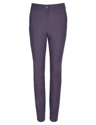Roma Cotton Rich Ankle Grazer Trousers Clothing