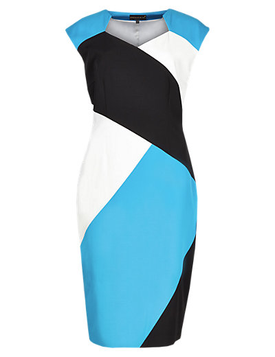 Speziale Colour Block Shift Dress with Modal Clothing