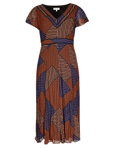 Bali Tile Print Dress Clothing