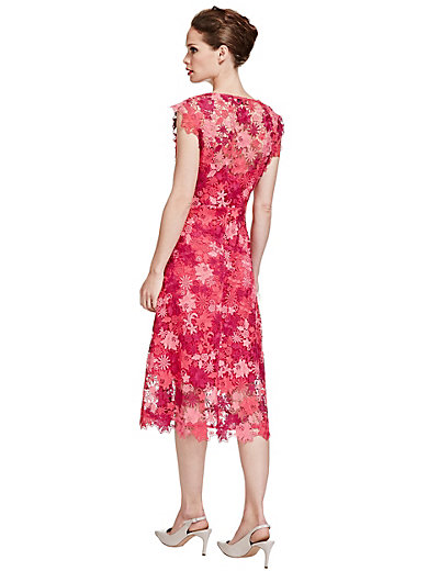 Marks and spencer lace dress red