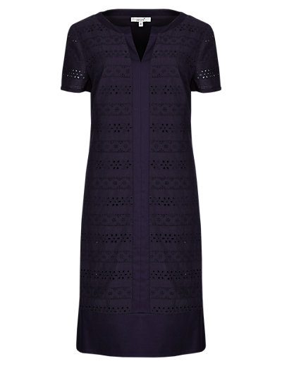 Navy Shift Dress Clothing