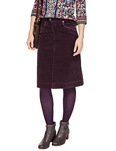 A Line Corduroy Skirt