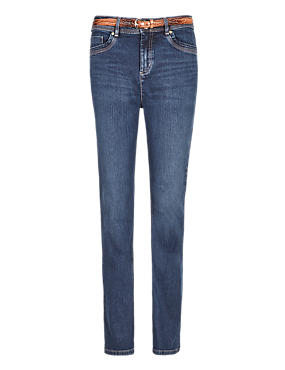 Roma Rise Sculpt & Lift Bootcut Denim Jeans with Belt