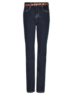 Sculpt & Lift Bootcut Denim Jeans with Belt