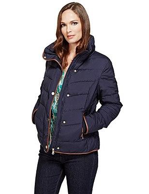 Long Sleeve Padded Jacket with Stormwear™, NAVY, catlanding