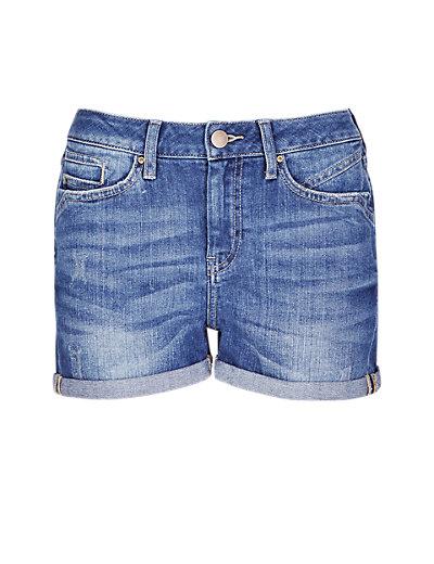 Denim Turn up Short Clothing