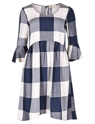 Checked Smock Dress £35 from Limited Edition at Marks and Spencer