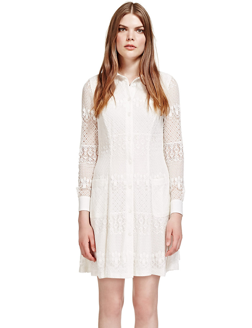 Floral Lace Shirt Dress £49.50 from Marks and Spencer