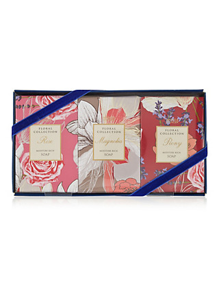 Floral Anniversary Mixed Soap Set Home