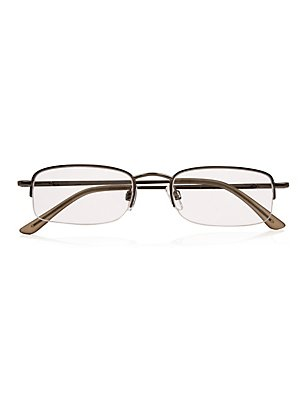 Half Frame Reading Glasses, BLACK, catlanding