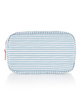 Striped Cosmetic Purse