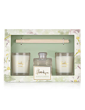 White Flowers Room Fragrance Gift Set