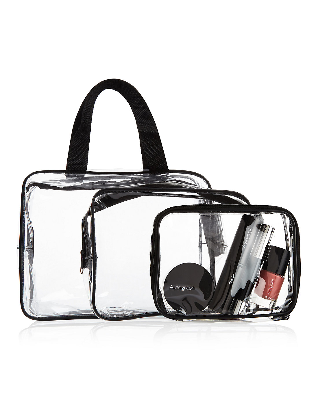 Outstanding Value Piece Clear Cosmetic Bag Set MS - Travel bag for bathroom items for bathroom decor ideas