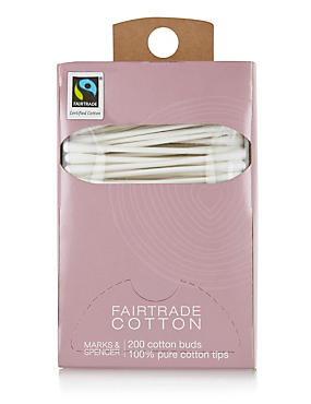 Fairtrade® Cotton Wool Buds, , catlanding