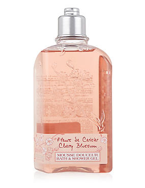 Cherry Blossom Bath & Shower Gel 250ml, , catlanding