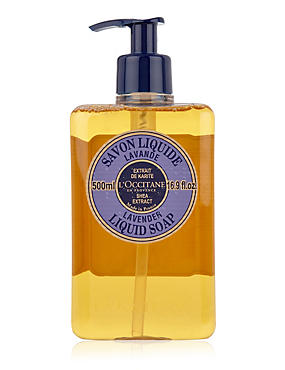 Shea Extract Lavender Liquid Soap 500ml, , catlanding