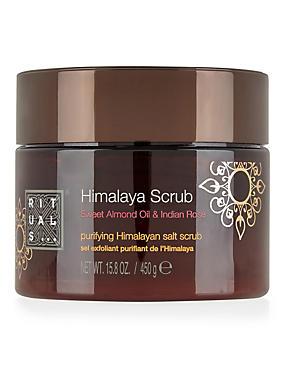 Sweet Almond Oil & Indian Rose Himalaya Scrub 450g, , catlanding
