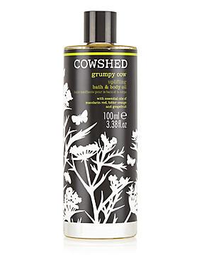 Grumpy Cow Bath & Body Oil 100ml, , catlanding
