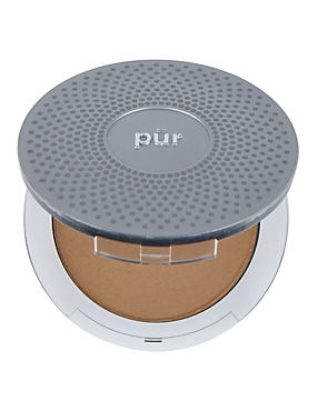 4-in-1 Pressed Mineral Make Up Compact 8g, MEDIUM BROWN, catlanding