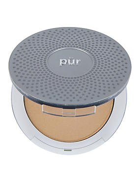 4-in-1 Pressed Mineral Make Up Compact 8g, LIGHT TAN, catlanding