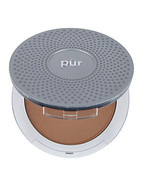 4-in-1 Pressed Mineral Make Up Compact 8g, GOLDEN BROWN, catlanding