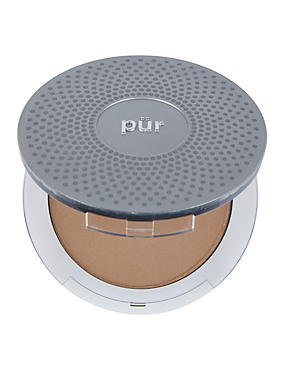 4-in-1 Pressed Mineral Make Up Compact 8g, TAN, catlanding