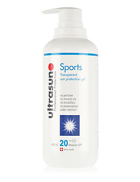 Sports Transparent Sun Protection Gel SPF20 400ml