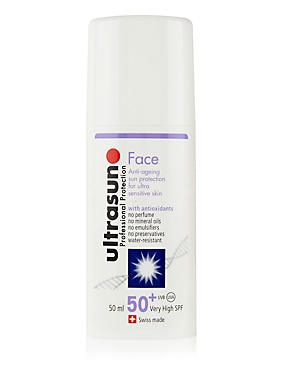 Very High Protection Face Sun Cream for Ultra Sensitive Skin SPF50+ 50ml