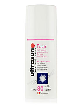 Anti-Ageing Sun Cream for Sensitive Skin SPF30 50ml, , catlanding