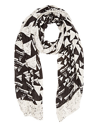 Pure Modal Lightweight Triangle Print Scarf Clothing
