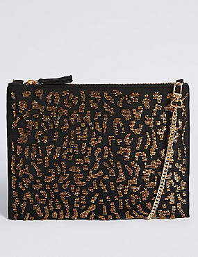 Embellished Clutch Bag, , catlanding