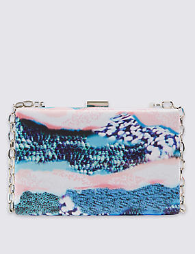 Reef Print Box Clutch Bag