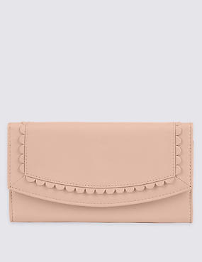Leather Sunray Purse with Cardsafe™, BLUSH, catlanding