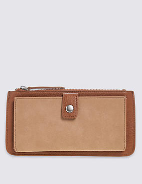 Faux Leather Tab Purse with Cardsafe™, , catlanding