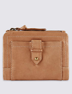 Leather Tab Purse with Cardsafe™