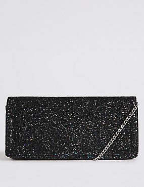 Elongated Clutch Bag, ANTHRACITE, catlanding