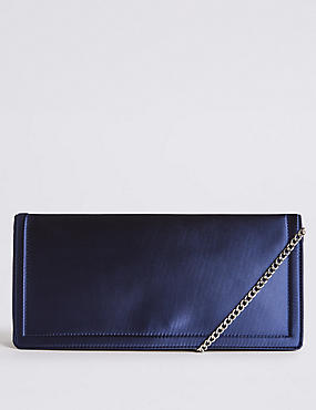 Elongated Clutch Bag, INDIGO, catlanding