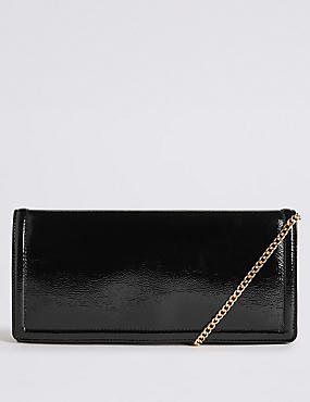 Elongated Clutch Bag, BLACK, catlanding