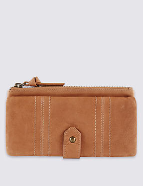 Leather Large Purse with Cardsafe™