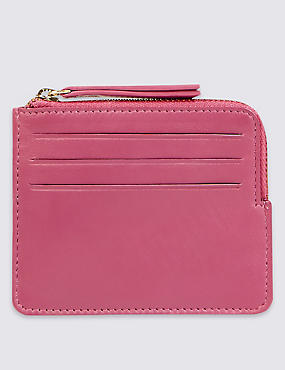 Leather Coin Purse, PINK, catlanding