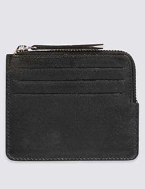 Leather Coin Purse, BLACK, catlanding