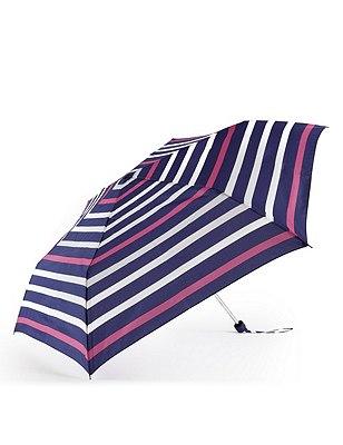 Nautical Striped Compact Umbrella with Stormwear™, NAVY MIX, catlanding