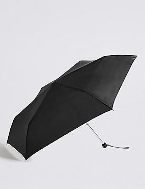Compact Umbrella with Stormwear™, BLACK, catlanding