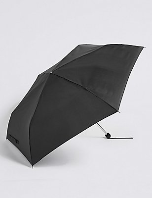 Sheen Compact Umbrella with Stormwear™ , BLACK, catlanding