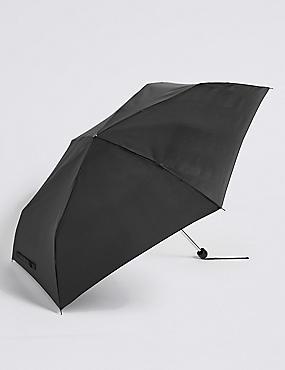 Sheen Compact Umbrella with Stormwear™ , BLACK, catlanding