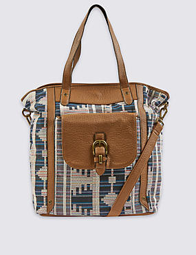 Jacquard Shopper Bag