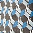 Faux Leather Geometric Print Shopper Bag, BLUE MIX, swatch