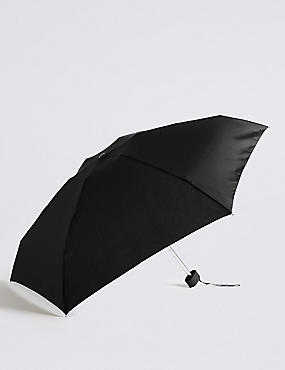Sheen Compact Umbrella with Stormwear™ & FLEXIRIB™, BLACK, catlanding